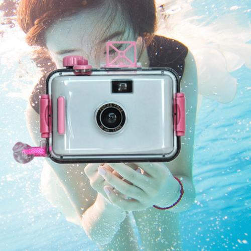 韓版第三代LOMO防水相機28mm 潛水相機 海邊衝浪浮潛游泳LOMO相機【DD404】◎123便利屋◎