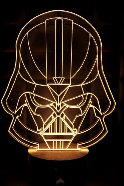 LED 造型 3D 立體燈 黑武士 Star Wars 星際大戰 星戰迷不可錯過 小夜燈 氣氛燈 生日禮物 禮物