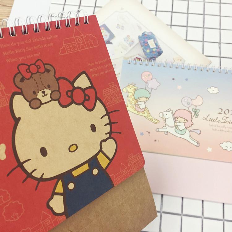 PGS7 (現貨+預購) 三麗鷗系列商品 - 三麗鷗 2017 桌曆 月曆 日曆 行事曆 Hello Kitty 雙子星 kikilala