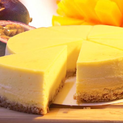 (免運)【阿妮琪烘焙屋】百香果重乳酪蛋糕-6吋(蛋奶素) ❤不露餡兒的好滋味❤   #新鮮百香果熬煮的內餡(非罐頭果醬,無添加色素,香精),減糖更健康#