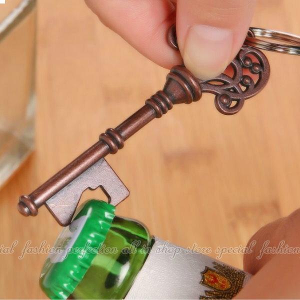 玫瑰花藤啤酒瓶起子 復古造型不務正業鑰匙圈 造型開瓶器【DJ227】◎123便利屋◎