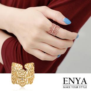 羅馬假期金屬戒指 Enya恩雅(正韓飾品)【RIAW6】