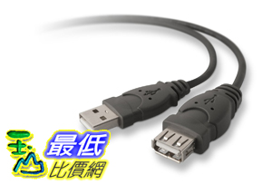 [美國直購]  Belkin Pro Series USB 2.0 Extension  Cable  F3U134b03 延長線