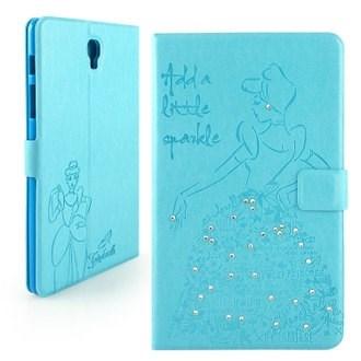 【Disney 】Samsung Galaxy Tab S 8.4 公主系列Cinderella灰姑娘時尚手繪風水鑽壓紋皮套