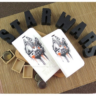 【Star Wars 】iPhone 6/6s 星際大戰 千年鷹 彩繪側掀皮套