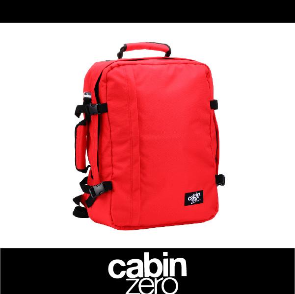 【買就送隨身腰包】CABIN ZERO 161-CZ061301 輕量44L後背包 登機 假期 公事 手提 多用途 可上密碼鎖 國際背包身分證 紅色 萬特戶外運動