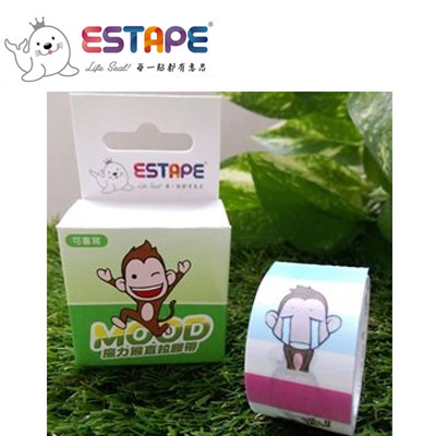 王佳膠帶 ESTAPE 魔力猴系列PC2537X易撕貼Memo(喜怒哀樂)/ 盒