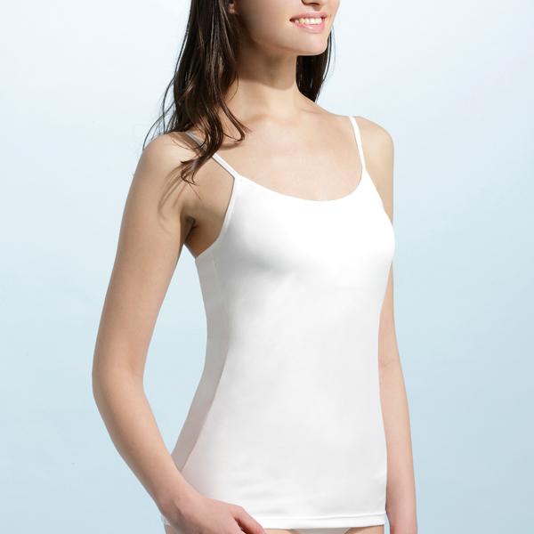 【MIGER密格內衣】BRA IN抗UV細肩帶背心-白色-台灣製-(編號:W3853)