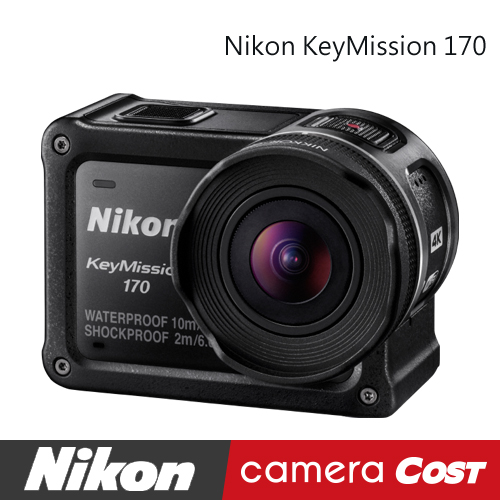 ★新貨到★Nikon Keymission 170 運動攝影機 超廣角 4K 防水10米 國祥公司貨 另有 80 360