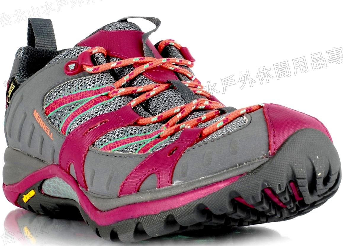 Merrell 登山鞋/越野鞋/健行鞋 防水透氣 Siren Sport Gore-tex 女款 ML32840 灰/桃紅