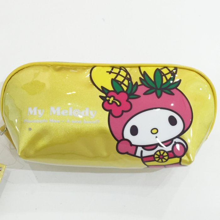 Melody 三麗鷗 美樂蒂 鉛筆盒 筆袋 收納袋 可愛鳳梨 文具 正版日本進口 限定販售 * JustGirl *
