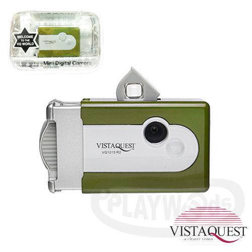 【Playwoods】[VISTAQUEST]VQ1015 R2-抹茶綠 數位相機(日本限量色)(復古/小相機/懷舊/暗角效果/攜帶方便)