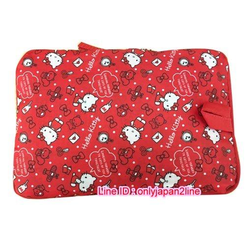 【真愛日本】16111000012可收納旅行袋-KT多圖點點紅    三麗鷗Hello Kitty凱蒂貓 旅行袋 收納袋