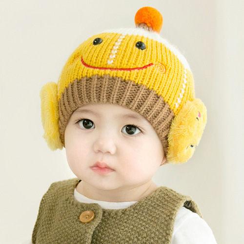 寶寶帽  笑臉針織帽 毛線帽 嬰兒帽(6-24個月) CA5020