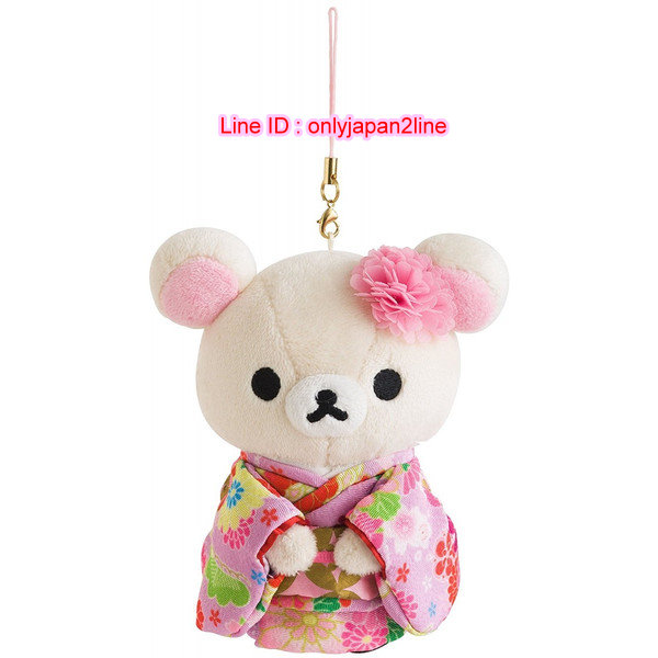 【真愛日本】16111800017專賣店限定日式和服吊飾娃二代-奶熊   懶懶熊 牛奶熊 拉拉熊  絨毛手指偶