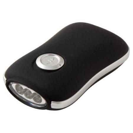 手搖發電LED手電筒 Beetle 060 BK