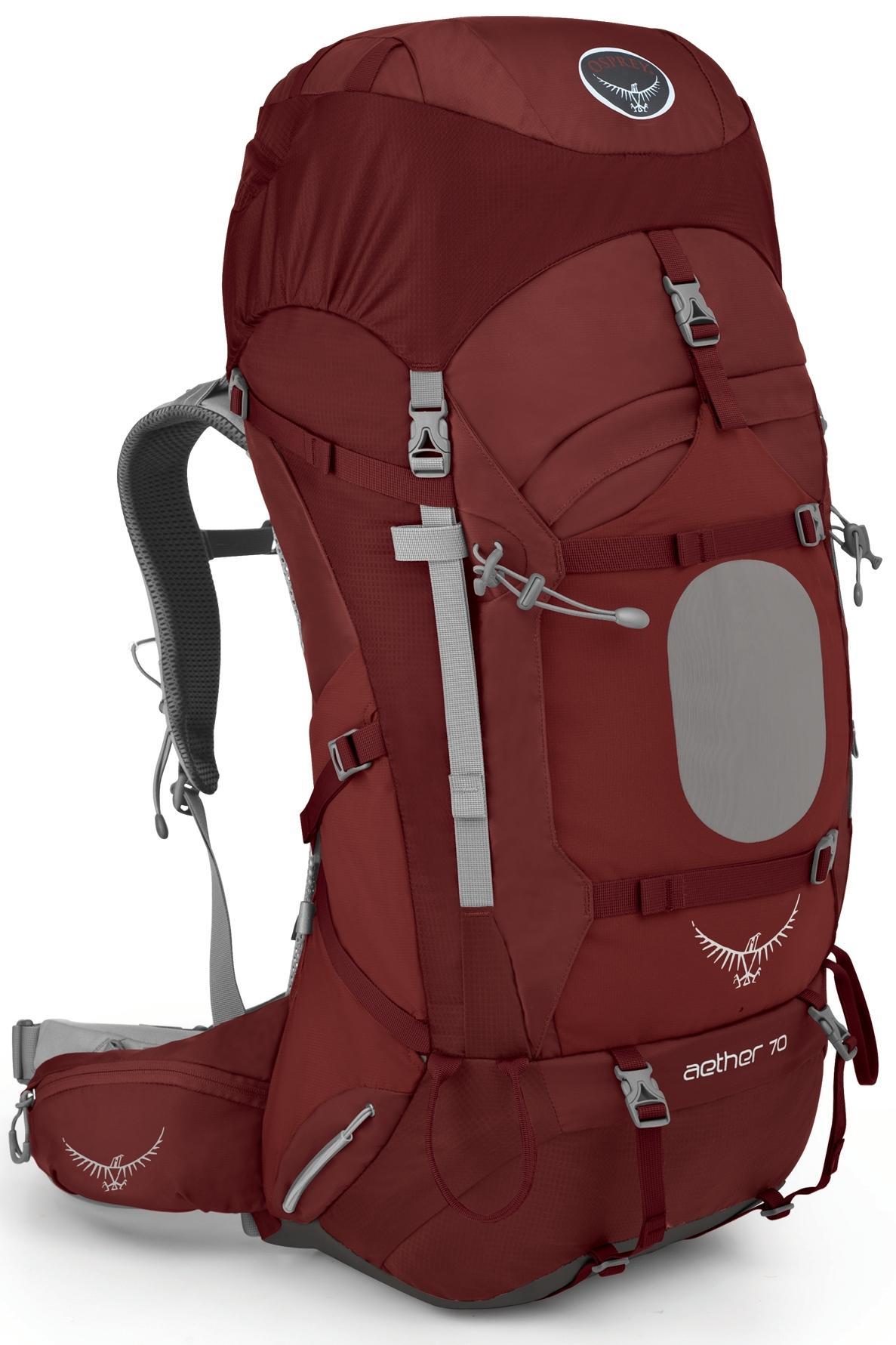 [ Osprey ] Aether 70 蒼穹 輕量專業登山健行大背包 Arroyo Red 紅色