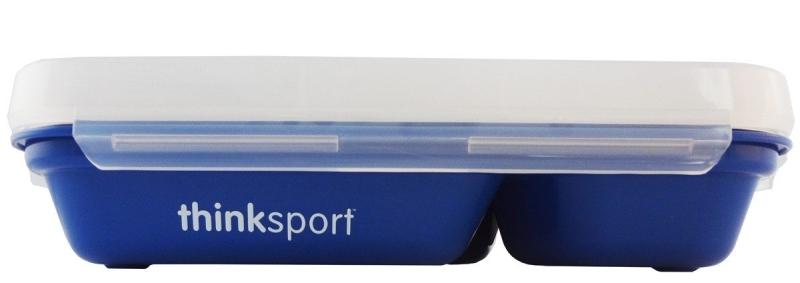 【本月特價】美國 ThinkBaby 不鏽鋼餐盤組 兒童便當盒餐盤組 (附湯叉+上蓋) 藍色 *夏日微風*