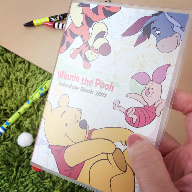 PGS7 (現貨+預購) 日本迪士尼系列商品 - 迪士尼 小熊維尼 2017 口袋日誌 (A6) 筆記本 記事本 行事曆 手帳本