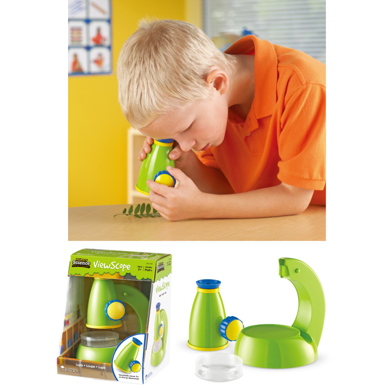 【華森葳兒童教玩具】科學教具系列-雙功能顯微鏡 N1-2760
