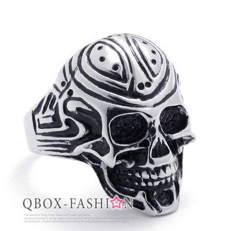 《 QBOX 》FASHION 飾品【W10020946】精緻個性埃及木乃伊骷髏頭鑄造316L鈦鋼戒指/戒環