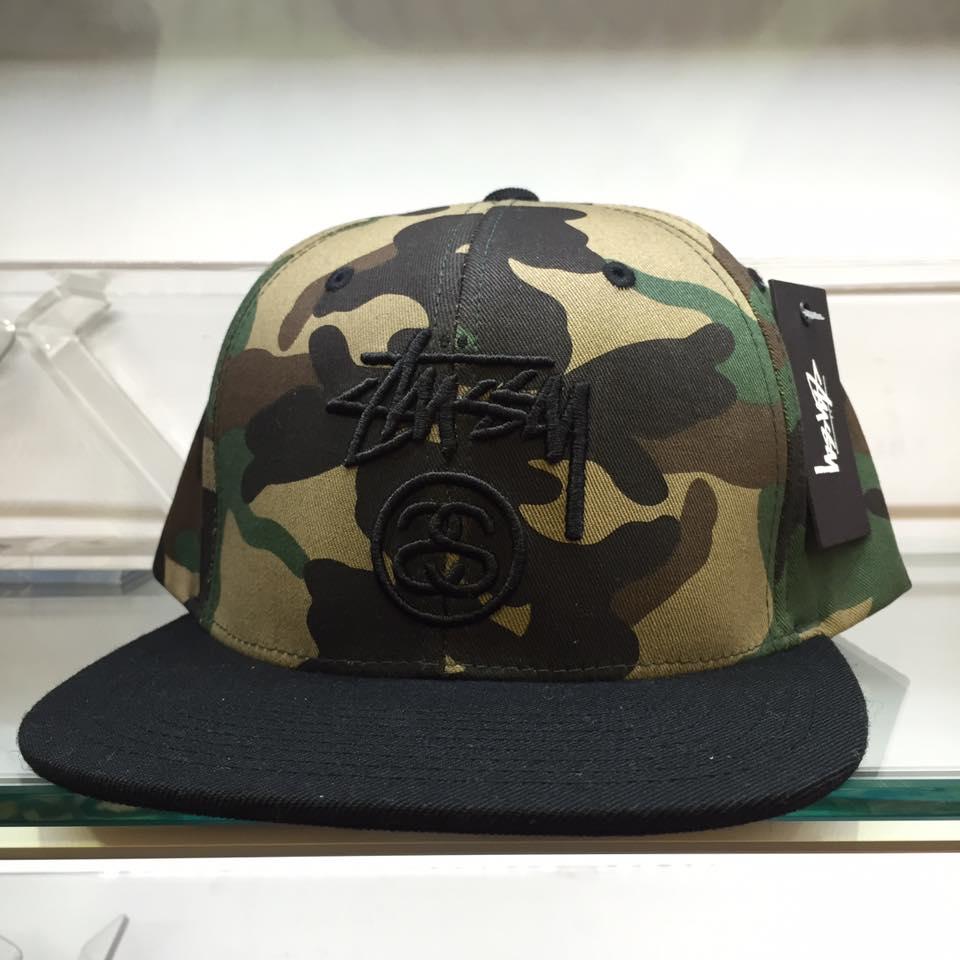 BEETLE STUSSY STOCK LOCK FA15 CAP 迷彩 黑 棒球帽 LOGO 滿版 刺繡 復古