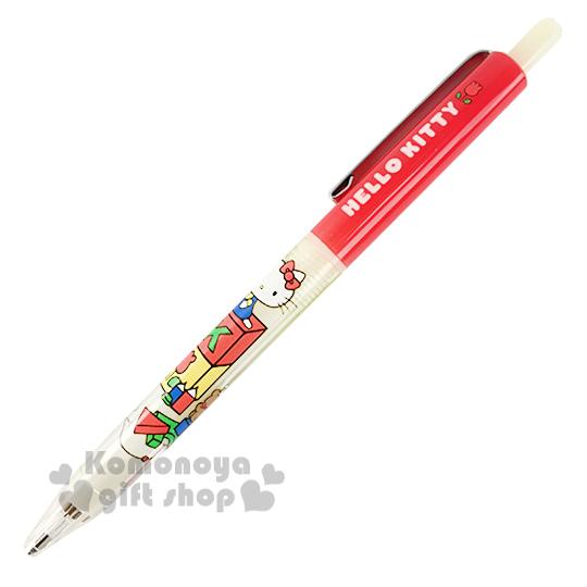 〔小禮堂〕Hello Kitty 自動鉛筆《紅白.坐姿.積木.鉛筆.0.5mm》