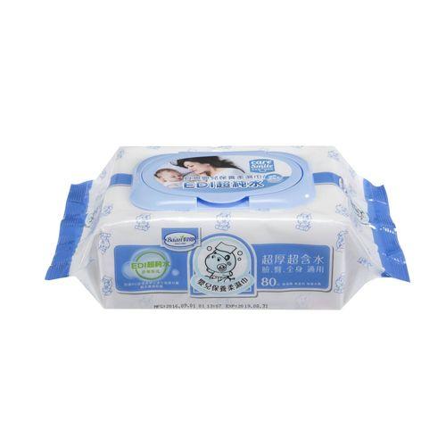 ★衛立兒生活館★貝恩 BAAN 超純水嬰兒保養柔濕巾促銷包80抽(3入)