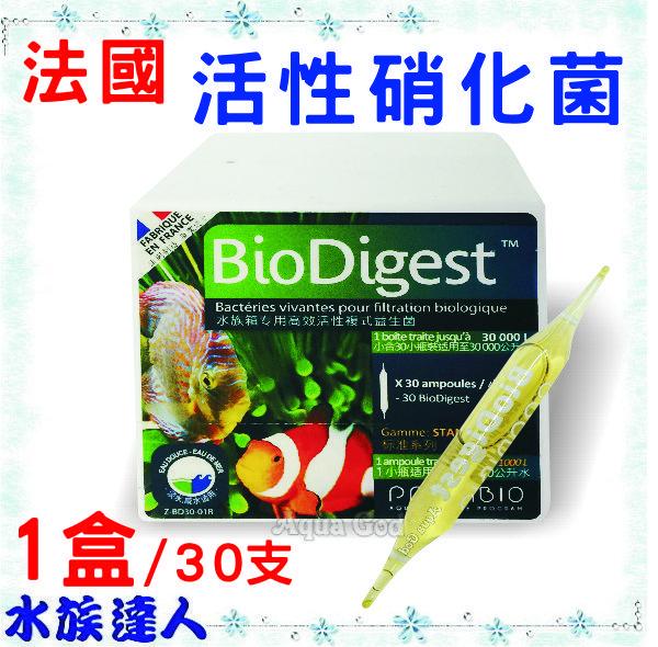 【水族達人】法國《50億 活性 硝化菌(BIO Digest) 1盒/30支》50億硝化菌 淡、海水專用效果好!