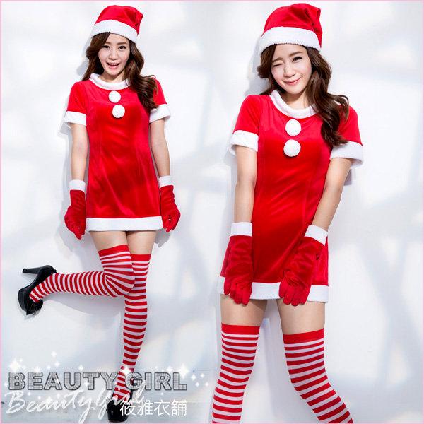俏麗聖誕小禮服 連身洋裝 舞台 展場 耶誕 大尺碼 筱雅衣舖【BT973-1】