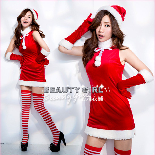 高級天鵝絨聖誕小禮服 耶誕 連身洋裝 舞台 大尺碼 筱雅衣舖【BT974-1】