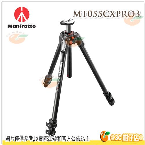 Manfrotto MT055CXPRO3 + 498RC4 球型雲台 新055系列 碳纖維三節腳架 正成公司貨