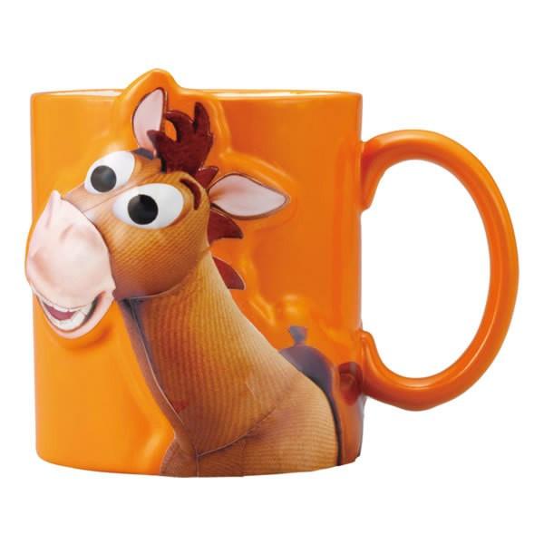 【真愛日本】15122400007 2D立體馬克杯-紅心橘 迪士尼 玩具總動員 TOY 茶杯 水杯 餐具