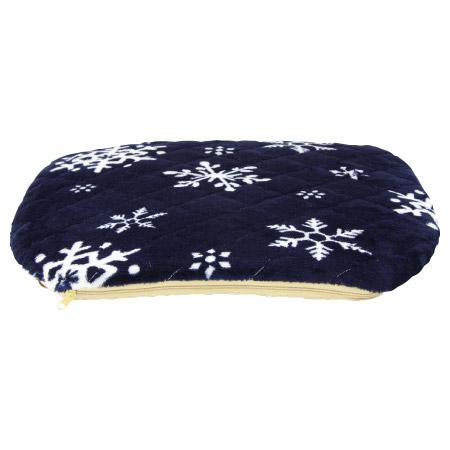 法蘭絨超柔餐椅墊 雪花