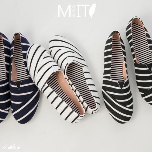 包鞋  SALE 經典條紋懶人休閒包鞋
