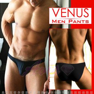情趣用品VENUS 低腰摩登素色三角褲 經典黑