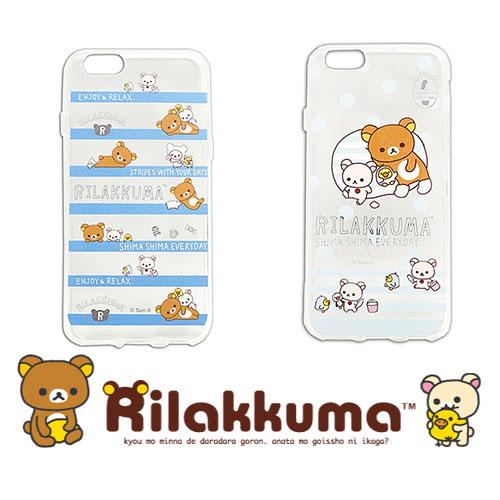 日本授權正版 Aplle iPhone6 PLUS 5.5吋 拉拉熊透明保護殼 (Rilakkuma)