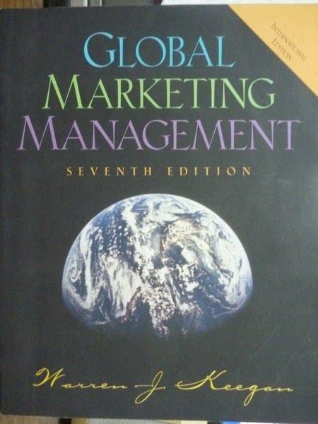 【書寶二手書T5/大學商學_QNS】Global Marketing Management_7/e