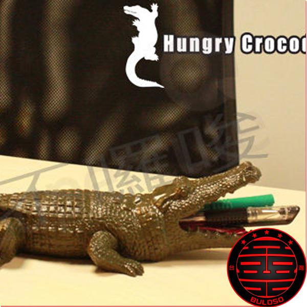 《不囉唆》鱷魚筆筒/可當存錢筒 收納盒 牙刷架 煙灰缸(不挑色/款)【A196048】