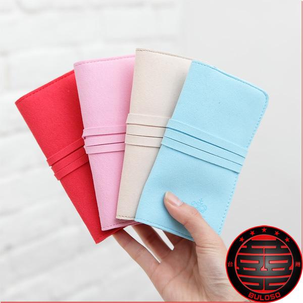 《不囉唆》【A211284】(不挑色) 4色TK10-255飾品包 韓國糖果色麂皮首飾包.飾品收納袋 飾品包