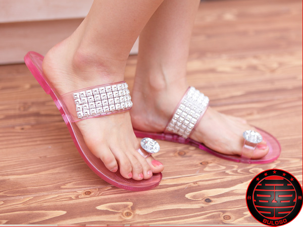《不囉唆》明星潮爆款 5色水晶鑽石鞋 拖鞋(不挑色/款)【A213707】