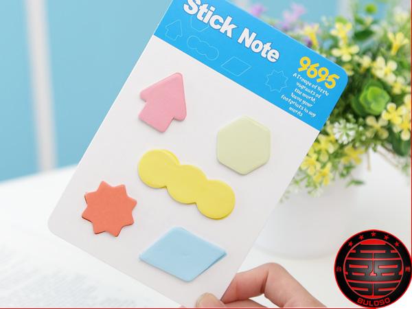 《不囉唆》韓國 彩虹4款1014符號便利貼 N次貼 可愛便條紙 便利貼隨意貼留言條【A215824】