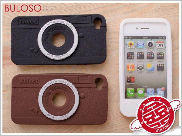《不囉唆》iPhone 4 專用外殼 超仿真相機造型矽膠保護套 保護殼 手機套(不挑色/款)【Y220453】
