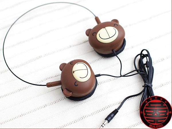 《不囉唆》韓國賣翻 CT1609巧克力熊耳罩式耳機 3.5mm耳機【A228718】巧克力熊耳罩式耳機 3.5mm耳機