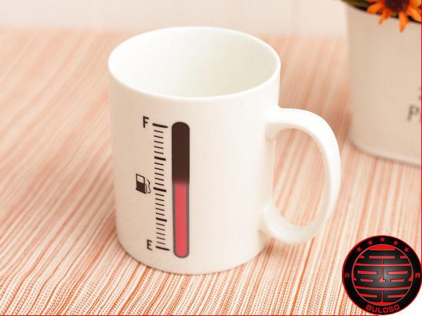 不囉嗦:129元【Y230155】 神奇溫度計魔法變色杯 創意魔術變色杯 溫度計變色陶瓷杯