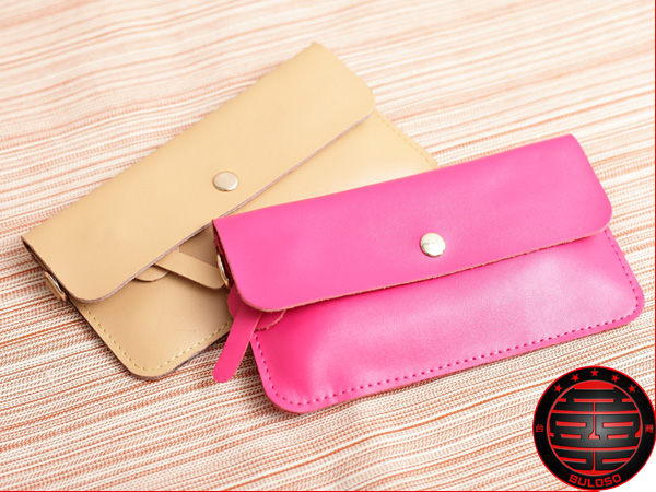《不囉唆》 韓風Simple 2色612掛繩按扣錢包 簡約收納錢包 收納袋(不挑色/款)【Y230537】