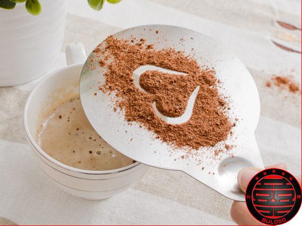 《不囉唆》【A231237】喝咖啡的好幫手 金屬愛心咖啡模/心型咖啡模/咖啡 飲料模具