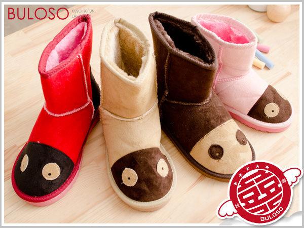 《不囉唆》【A234177】(不挑色) 可愛保暖 熊仔兒童雪地靴/童靴/童鞋 4色1102兒童雪靴 6SIZE