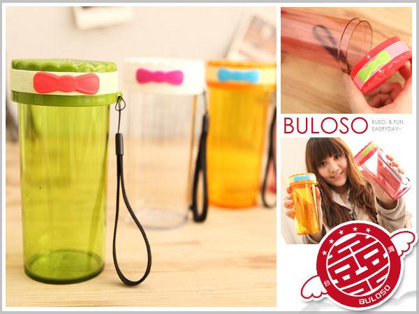 《不囉唆》【A241052】(不挑色) 4色蝴蝶結時尚達人杯 環保運動水壺 隨手瓶 可攜水壺