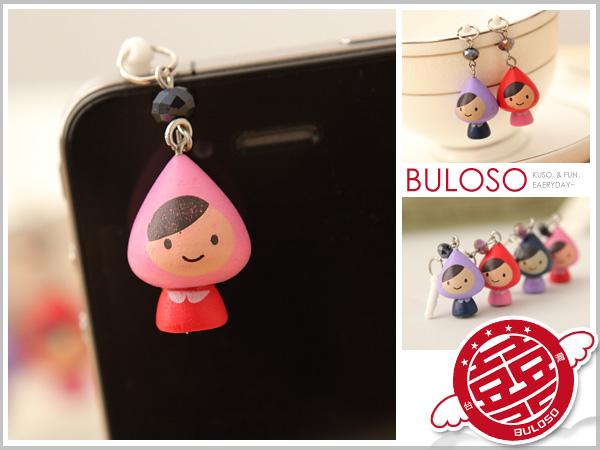 《不囉唆》【A243919】(不挑色) 韓國賣瘋 4色小紅帽防塵塞吊飾耳機孔 3.5mm耳機孔